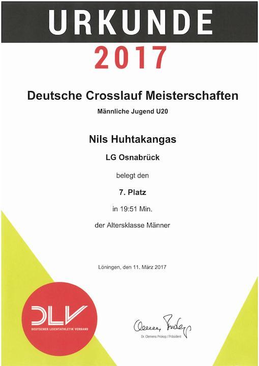 Urkunde DM von Nils